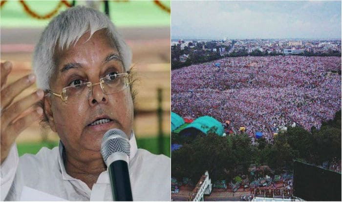 Lalu Yadav Tweets Morphed Image of Crowd Size at BJP Bhagao Rally in Patna, Says Report