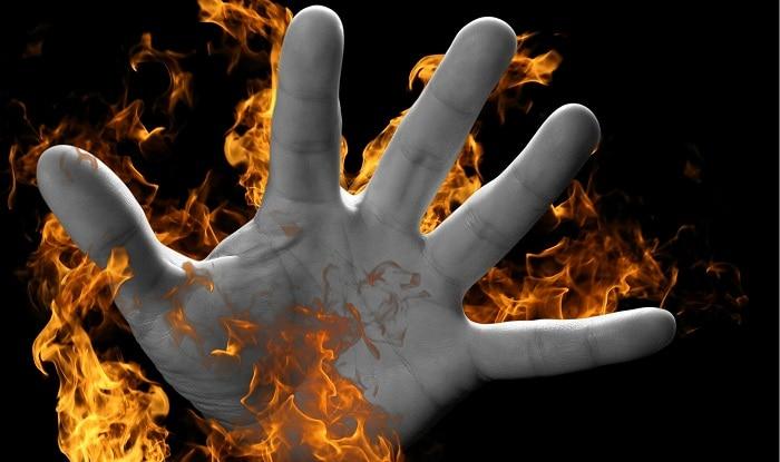 Man attempts self-immolation.