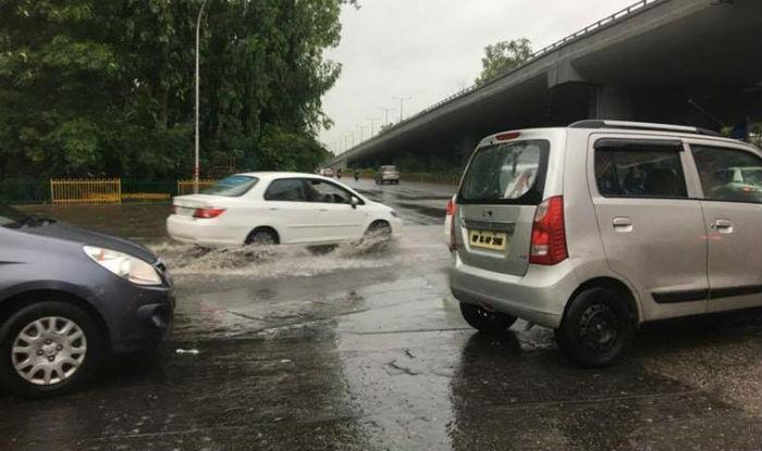 Noida: Heavy Rains Cause Water Logging; Vehicular Movement Paralysed