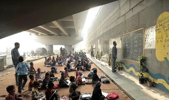 Image result for Rajesh Kumar Sharma 'The Free School Under The Bridge'