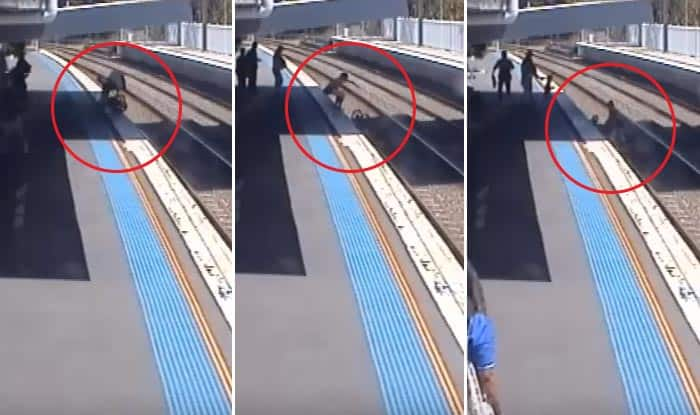 Mom Rescues Baby From Railway Tracks, CCTV Footage Shows Train Arriving Within Seconds In Australia