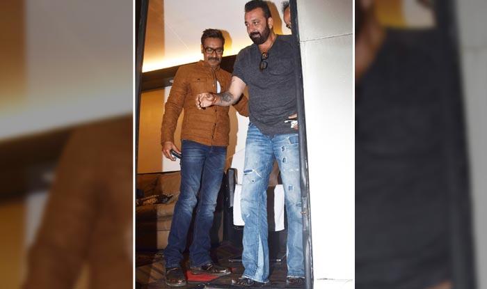 Ajay Devgn welcomes Sanjay Dutt on the sets of Khatron Ke Khiladi 8