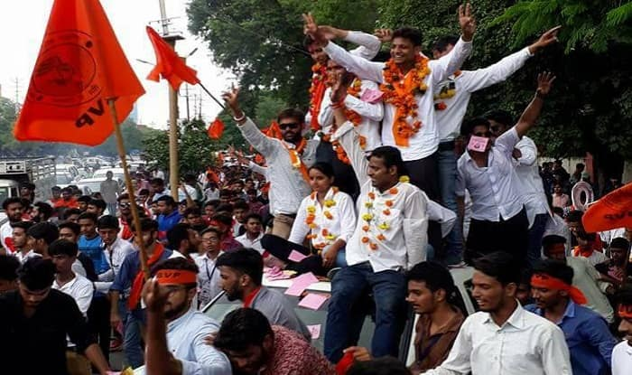 Rajasthan Students' Union Election Results 2017: ABVP Wins Big Against NSUI at Universities