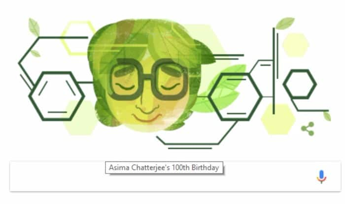 Dr Asima Chatterjee's 100th Birthday Celebrated By Google: Search