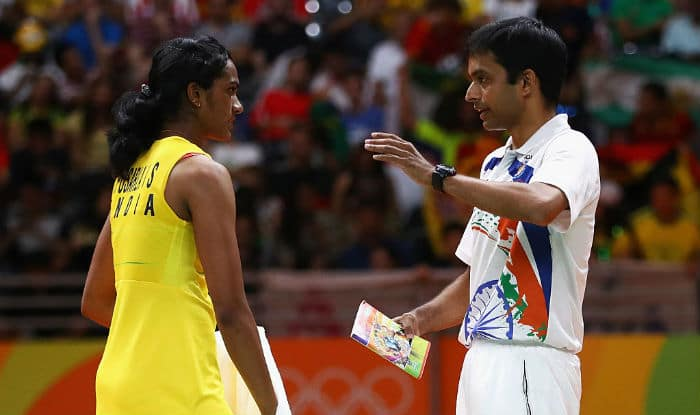 File Image of P V Sindhu with coach Pullela Gopichand_Getty