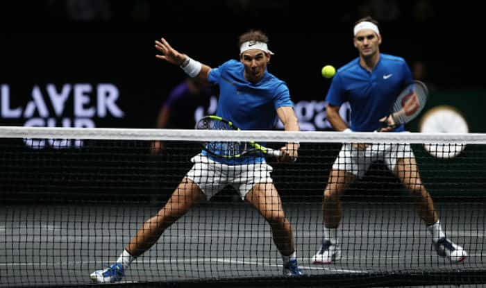 Laver Cup Roger Federer Rafael Nadal Team Up On Doubles Court For The First Time Watch Highlights India Com