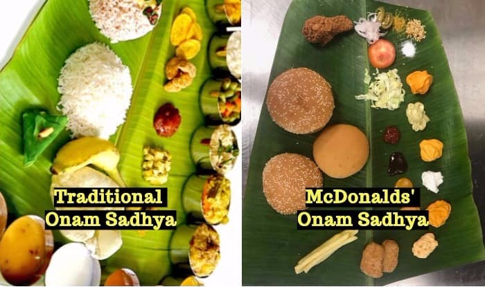 McDonalds India Celebrates Onam 2017 With Special 'Burger' Sadhya on Banana Leaf, Picture Goes Viral Online