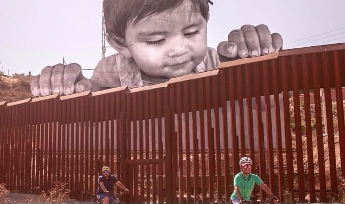 Pictures of Toddler Peering Through US-Mexico Border Wall go Viral: Artist Taunts Donald Trump Scrapping DACA With Stunning Art