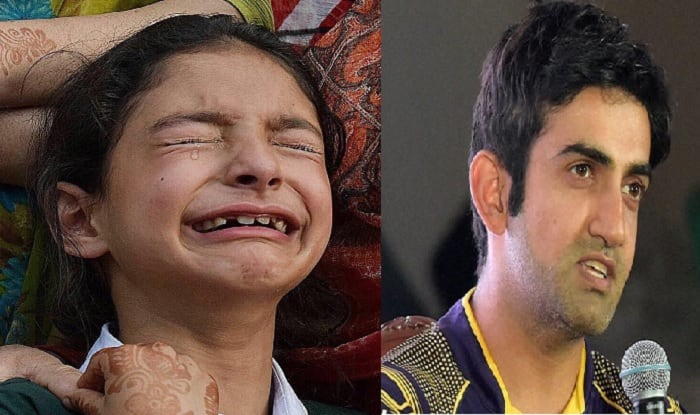 Martyred Jammu And Kashmir Cop's Daughter Zohra Thanks Gautam Gambhir For His Gesture to Fund Her Education