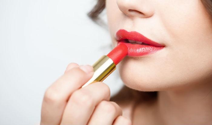 liquid lipstick woman