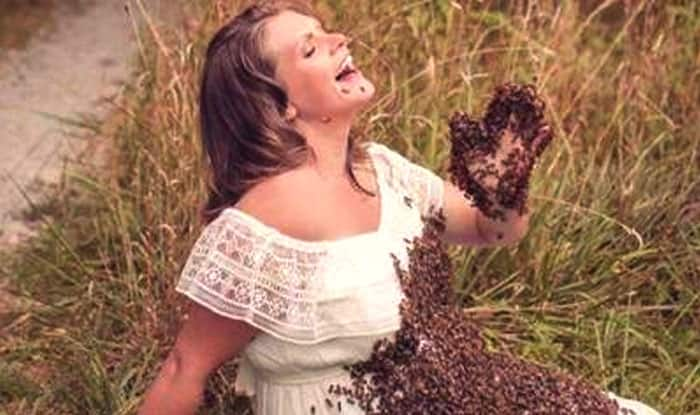 Pregnant Woman Poses With 20,000 Live Bees For Maternity Photoshoot, Pictures Go Viral