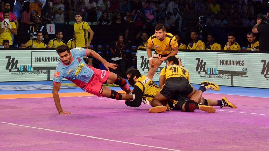 Telugu Titans vs Jaipur Pink Panthers PKL 5: Titans Thrash Panthers 41-34