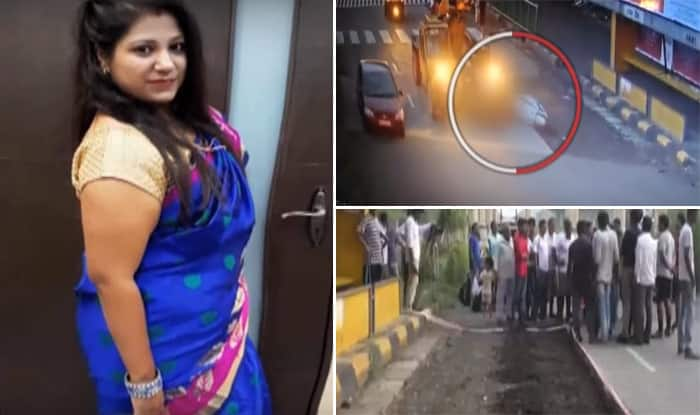 Horrific CCTV Footage Shows Mumbai Woman Falling Off Her Scooter And Getting Crushed By Oncoming Crane