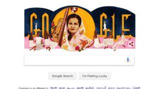 Remembering Begum Akhtar on his 103rd Birthday Google dedicates this special Doodle |बेग़म अख्तर का 103वां जन्मदिन मना रहा है गूगल, इस खास अंदाज में डूडल बनाकर किया याद