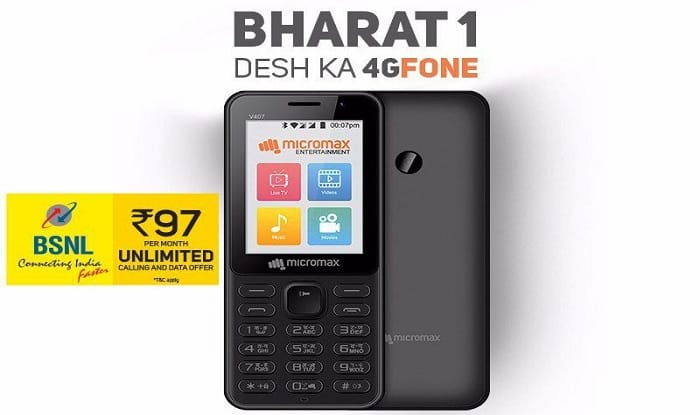 the best attitude 92759 81947 BSNL, Micromax Launch Bharat-1 4G Feature Phone at Rs 2,200; the ...