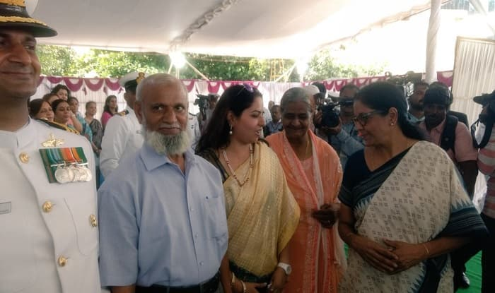 Parents of Commander Naushad Ali Khan Commanding Officer of INS Kiltan at Commissioning Ceremony.