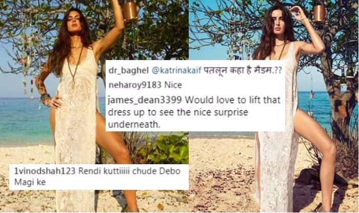 Katrina Kaif Slut-shamed for Posting Bold Picture Showing her Thighs in a High-Slit Lace Bikini Cover Up