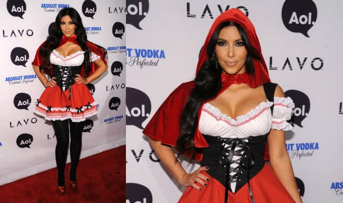 Kim Kardashian halloween red riding hood