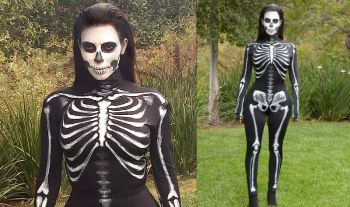 Kim Kardashian halloween skeleton