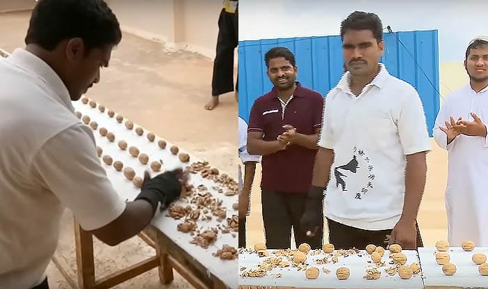 Guinness World Record: Indian Martial Arts Master Wins Title For Most Walnuts Crushed By Hand