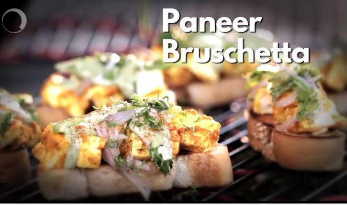 Here's a Simple Recipe to Make Paneer Bruschetta