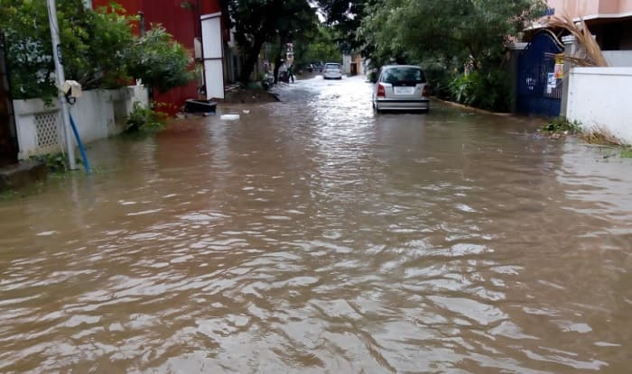 A photo posted by a Twitter user of rains in Chennai (Twitter)
