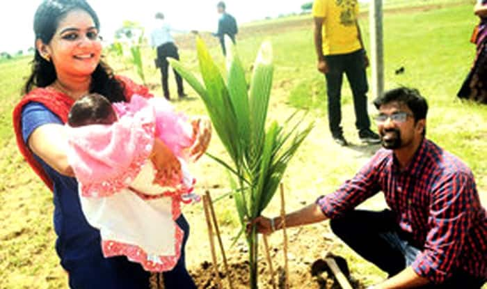 Pune Couple Plants 101 Trees Celebrating Daughter's Birth