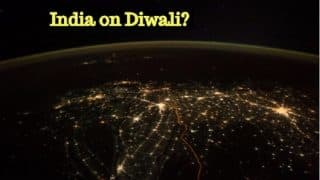 Diwali Celebrations Picture of India From Space Fake? Astronaut Paolo Nespoli Viral Photo is Real But Its Story is Not