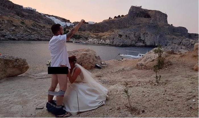 British Couple Perform Sex Act at Greek Church: Viral Picture Forces Monastery Chief to Ban All Foreign Couple Marriages