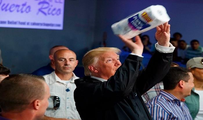 Donald Trump throws towels into Puerto Rico survivors