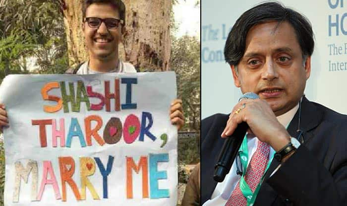 Shashi Tharoor Gave An Epic Reply On Twitter To The Guy Who Asked Him To Marry At Delhi's Pride Parade