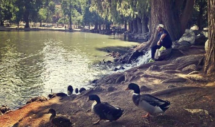 Ranveer Singh chilling in LA