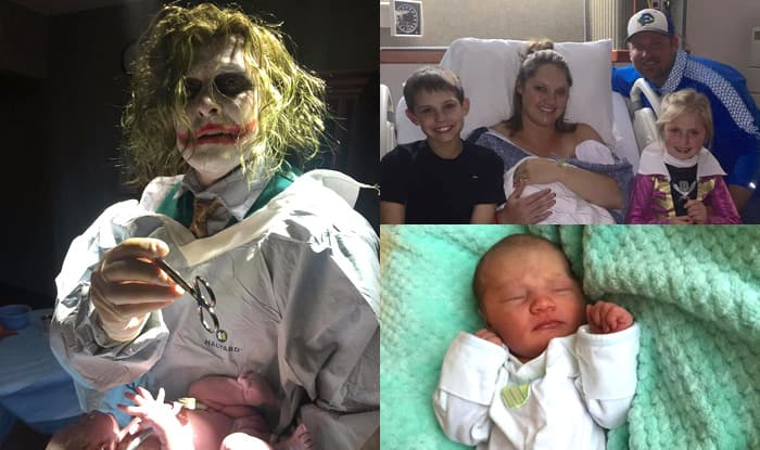 This Doctor Delivered A Baby On Halloween Dressed As Batman's The Joker (See Pictures)