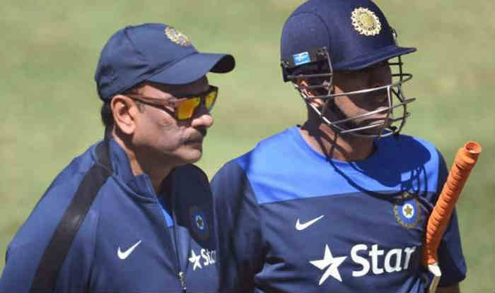 Ravi Shastri with MS Dhoni.