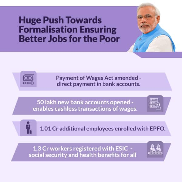 More jobs for the poor