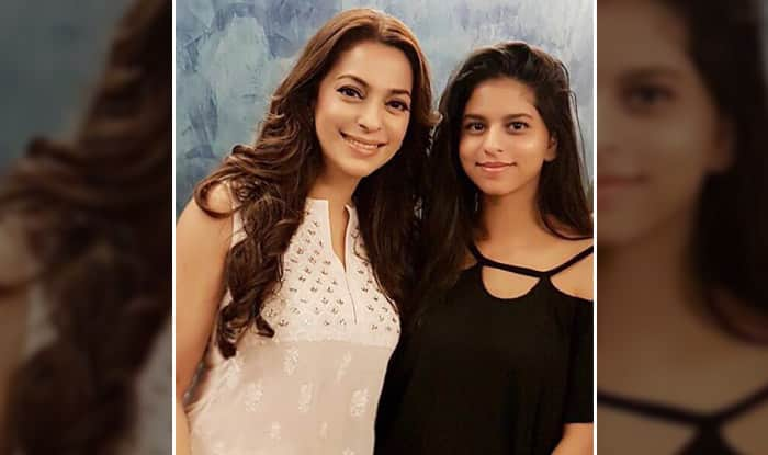 Juhi Chawla And Shah Rukh Khan's Daughter Suhana Khan Pose Together For A Cute Picture – View Photo