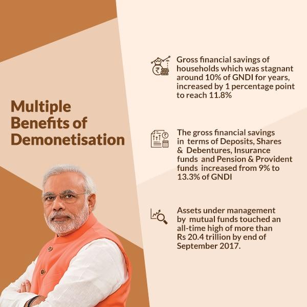Multiple benefits of demonetisation