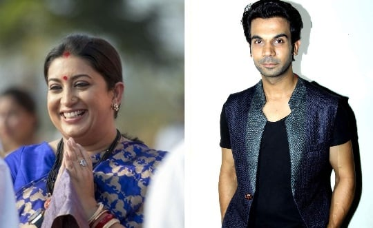 Rajkummar Rao Pokes Fun At Smriti Irani, The Minister Slyly Hands It Back To Him Calling The Govt 'Tolerant'