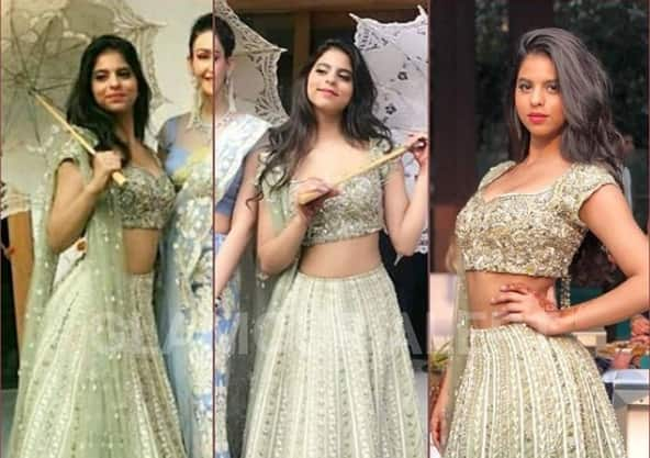 Suhana Khan Partying In A Golden Lehenga Looks Like An Absolute Diva – View Pics