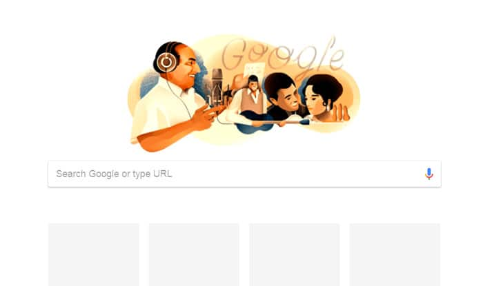 Mohammed Rafi Honoured With a Google Doodle on his 93rd Birthday