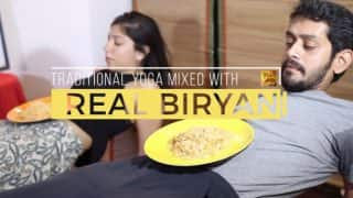This Biryani Yoga Spoof Video is The Perfect Hilarious Reply to Beer Yoga