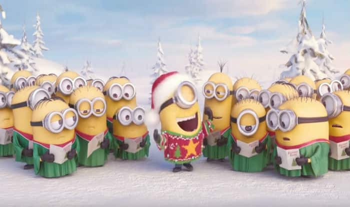 Christmas Singin.Minions Singing The Christmas Carol Jingle Bells In