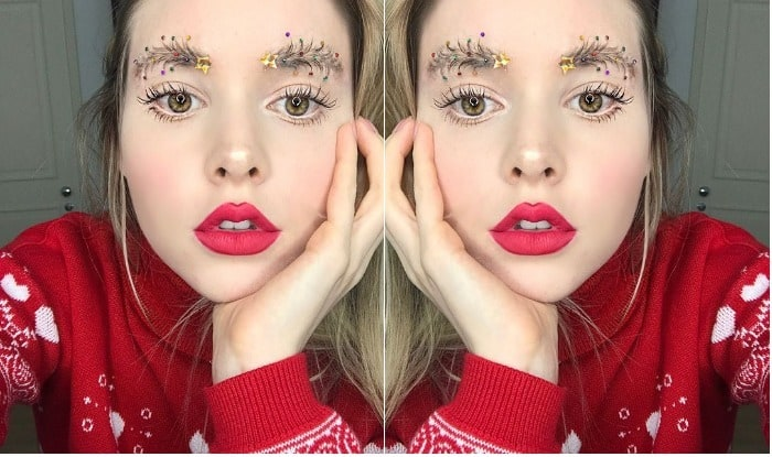 Christmas Tree Eyebrows.Christmas Tree Eyebrow Is The Latest Beauty Trend Here S