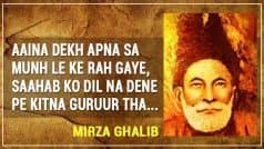 Mirza Ghalib Birthday Special: Top 15 Couplets of The Greatest Urdu Poet That Define Love, Pain & Life
