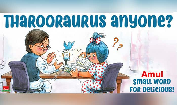 Amul Dedicates Cartoon to Shashi Tharoor's 'Fondness For Big Words' And He is 'Butterly Honoured'