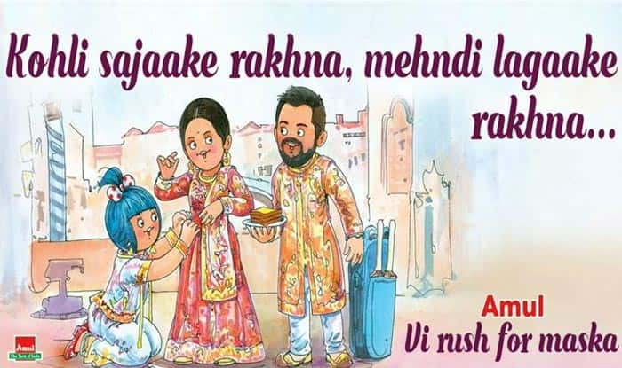 Amul's Topical Ad Congratulating Virat Kohli and Anushka Sharma for Their Wedding is Winning the Internet