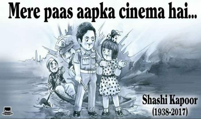 RIP Shashi Kapoor:  Amul Pays a Moving Tribute to the Bollywood Veteran