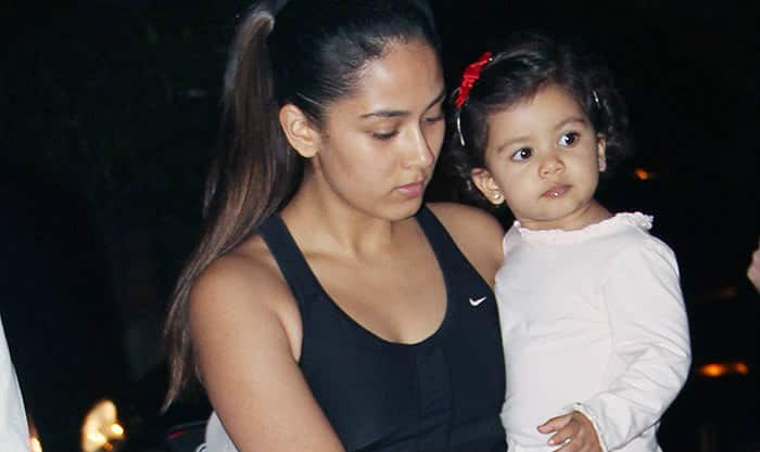 Misha Kapoor Looks Super Cute As She Tags Along With Mommy Mira To The Gym- View Pics