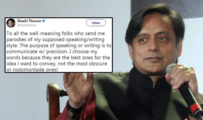 Shashi Tharoor Just Used Rodomontade in a Tweet, Twitterati