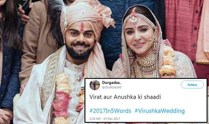 #2017in5words: Twitterati Define the Year with Aadhar, GST and Virushka Wedding